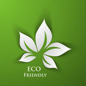 Green eco friendly background — Stock Vector
