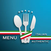 Menu italian — Stock Vector