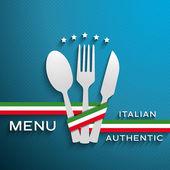 Menu italian — Stock Vector