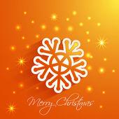 Snowflake Merry Christmas card — Stock Vector
