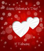 Carte de voeux Saint Valentin — Vecteur