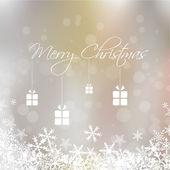 Merry Christmas card presentation — Stock Vector