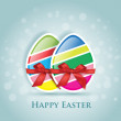 Vector de stock : Happy Easter greeting card