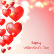 Happy Valentines day greeting card — Vettoriali Stock