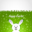 Paper rabbit Easter card — Stockvectorbeeld