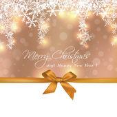 Cartolina d'auguri di buon Natale regalo carino — Vettoriale Stock