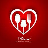 Romantic lunch menu design — Stock Vector