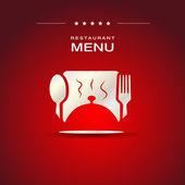 Restaurant menu cover design — Stock Vector