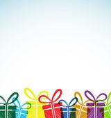 Kort med retro presentförpackning — Stockvektor