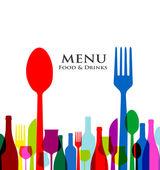 Retro cover restaurant menu designs on white background — Stock Vector