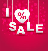 I Love discount sale — Stock Vector