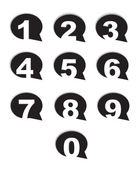 Bubble conversation numbers icons set — Stock vektor