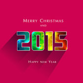 Polygonal 2015 New Year — Stock Vector