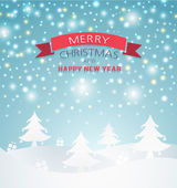 Merry Christmas Landscape — Stock Vector