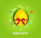 Carte-cadeau de Pâques oeuf jaune — Photo
