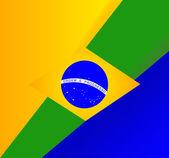 Abstract Brazilian flag background — Stock Vector