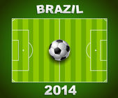 Brazil world cup soccer field in 2014 — Stockvektor