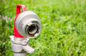 Close up hydrant nozzle — Stock Photo