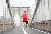 Running runner man — Stock Photo
