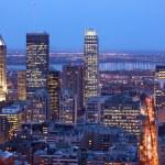 Montreal skyline by night — Stock Photo