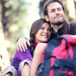 Happy couple outdoors — Stock Photo #22278109
