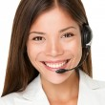 Female call center operator — Stock Photo #22278219