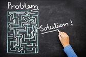 Probleem en oplossing - doolhof oplossen — Stockfoto