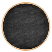 Round chalkboard, blackboard circle — Stock Photo