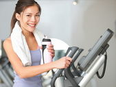 Gym woman fitness workout — Stock Photo
