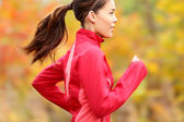 Running in Fall — Stockfoto