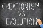Creationism vs. Evolution — Stock Photo