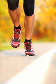 Running - male runner closeup — Stock Photo