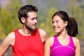Happy sporty couple portrait — Stock Photo