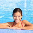 Pool woman natural beauty - Stock Photo