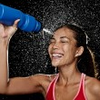 Fitness runner woman drinking — Stock Photo #22310529