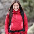 Portrait of woman outdoors hiking. — Stock Photo