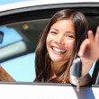 Womdriver in car showing keys — Stock Photo #22311309