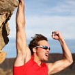 Success man climbing - Stock Photo