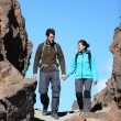 Stok fotoğraf: Couple walking in nature