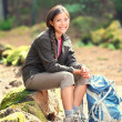 Active healthy woman hiking - Stockfoto