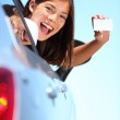 Drivers license car woman — Stock Photo