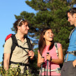 Group of friends hiking — Stock Photo #22312831