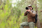 Photographer in nature — Stock Photo