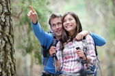 Happy couple hiking — Stock Photo