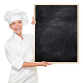 Chef showing sign — Stockfoto