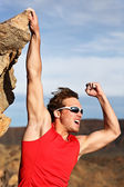 Success man climbing — Stock Photo