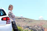 Traveling in car on La Palma — Stock Photo