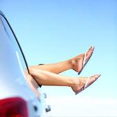 Letní silniční výlet autem dovolená — Stock fotografie