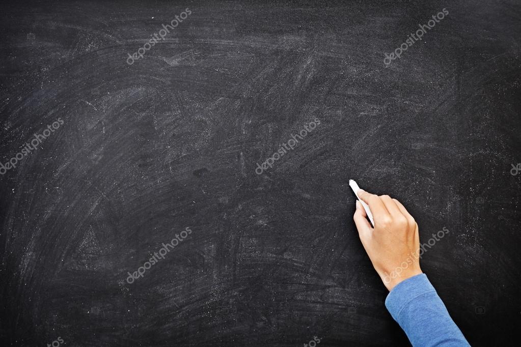 hand writing on chalkboard or blackboard stock photo maridav 22310393. Black Bedroom Furniture Sets. Home Design Ideas