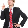 Businessman having an idea pointing up — Stock Photo #22919636